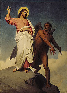 Ary Scheffer's The Temptation of Christ