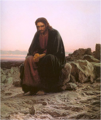 Ivan Kramskoy's 1872 Christ in the Wilderness